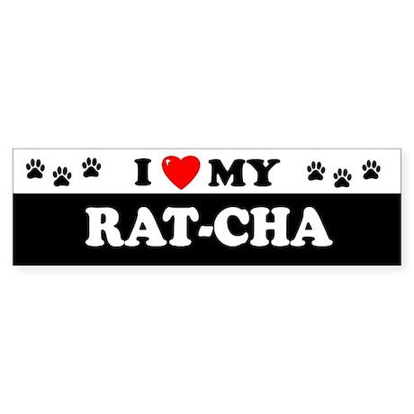 RAT-CHA Bumper Sticker