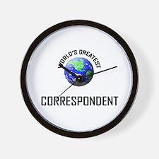 World's Greatest CORRESPONDENT Wall Clock