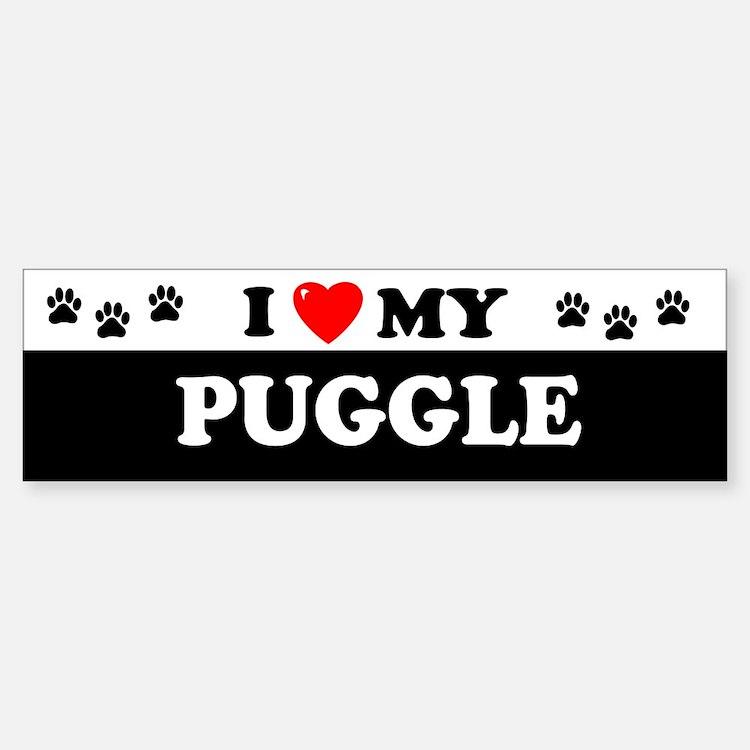 PUGGLE Bumper Bumper Bumper Sticker
