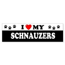 SCHNAUZERS Bumper Bumper Sticker