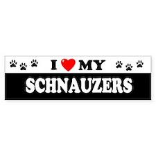 SCHNAUZERS Bumper Car Sticker