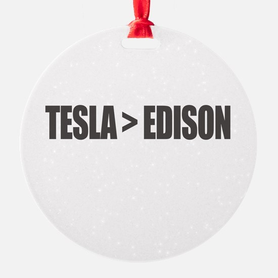 Tesla Edison Ornament