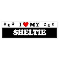 SHELTIE Bumper Bumper Sticker