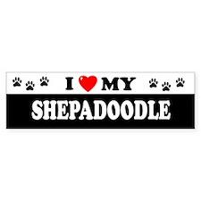 SHEPADOODLE Bumper Bumper Sticker