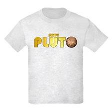 Save Pluto Kids Tee Light Colored