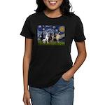 Starry / 4 Great Danes Women's Dark T-Shirt