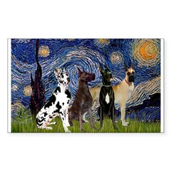 Starry / 4 Great Danes Decal