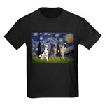 Starry / 4 Great Danes Kids Dark T-Shirt