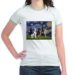 Starry / 4 Great Danes Jr. Ringer T-Shirt