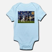 Starry / 4 Great Danes Infant Bodysuit