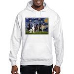 Starry / 4 Great Danes Hooded Sweatshirt