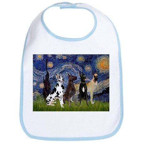 Starry / 4 Great Danes Bib