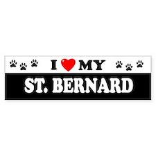 ST. BERNARD Bumper Bumper Sticker