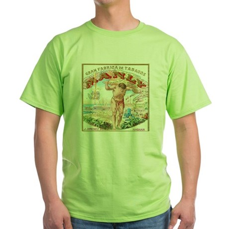 Manly Cigars Vintage Ad Green T-Shirt