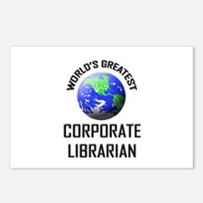 World's Greatest CORPORATE LIBRARIAN Postcards (Pa