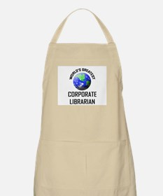 World's Greatest CORPORATE LIBRARIAN BBQ Apron