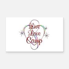 Live Love Camp Rectangle Car Magnet