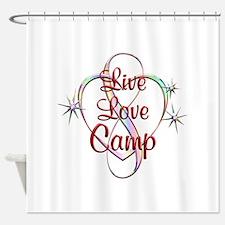 Live Love Camp Shower Curtain