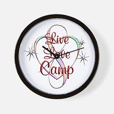 Live Love Camp Wall Clock