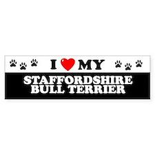 STAFFORDSHIRE BULL TERRIER Bumper Bumper Sticker
