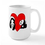 Panda Bear Love Large Mug