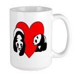 Panda Bear Love Large Mug