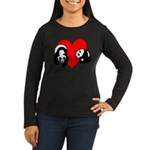 Panda Bear Love W Women's Long Sleeve Dark T-Shirt