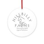 Hillbilly Farms Ornament (Round)