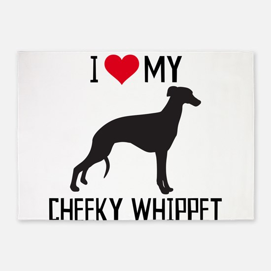 I love my cheeky whippet! 5'x7'Area Rug