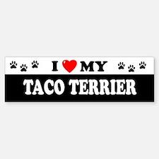 TACO TERRIER Bumper Bumper Bumper Sticker