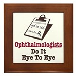 Ophthalmology Ophthalmologist Eye Doctor Framed Ti