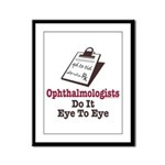 Ophthalmology Ophthalmologist Eye Doctor Framed Pa