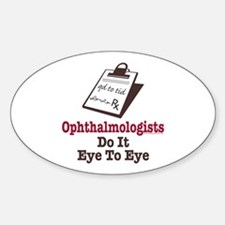 Ophthalmology Ophthalmologist Eye Doctor Decal