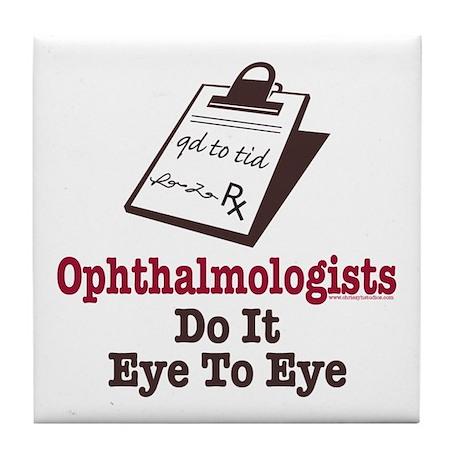 Ophthalmology Ophthalmologist Eye Doctor Tile Coas