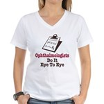 Ophthalmology Ophthalmologist Eye Doctor Women's V