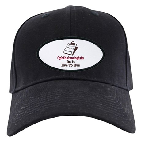Ophthalmology Ophthalmologist Eye Doctor Black Cap