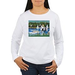 Sailboats / Gr Dane (h) Women's Long Sleeve T-Shir