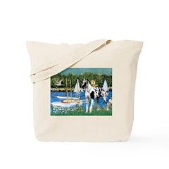 Sailboats / Gr Dane (h) Tote Bag