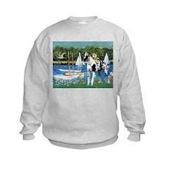 Sailboats / Gr Dane (h) Sweatshirt