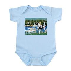 Sailboats / Gr Dane (h) Infant Bodysuit