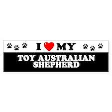 TOY AUSTRALIAN SHEPHERD Bumper Bumper Bumper Sticker