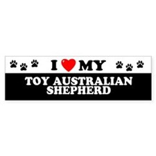 TOY AUSTRALIAN SHEPHERD Bumper Car Sticker