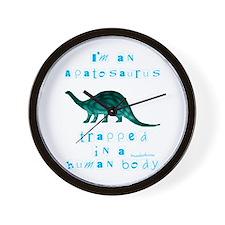 I'm an Apatosaurus Wall Clock