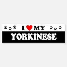 YORKINESE Bumper Bumper Bumper Sticker