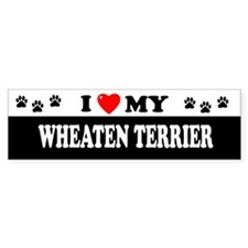 WHEATEN TERRIER Bumper Bumper Sticker