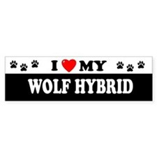 WOLF HYBRID Bumper Car Sticker
