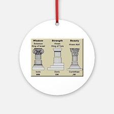 Masonic Pillars Round Ornament