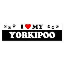 YORKIPOO Bumper Bumper Sticker