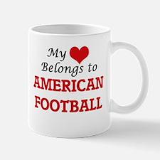 My heart belongs to American Football Mugs
