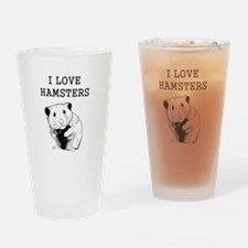 I Love Hamsters Drinking Glass